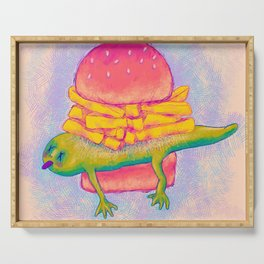 French Fry Newt Burger with Special Sauce Serving Tray