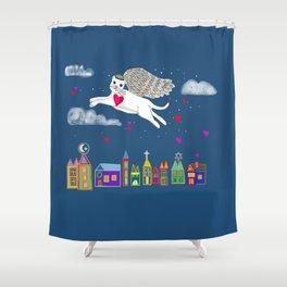 Kitty Angel Shower Curtain