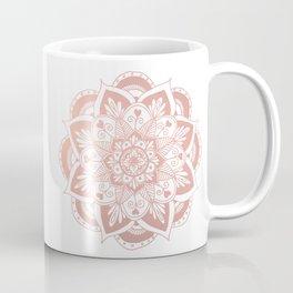 Flower Mandala on Rose Gold Coffee Mug