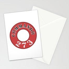 273 - Commando Engine Label Stationery Cards