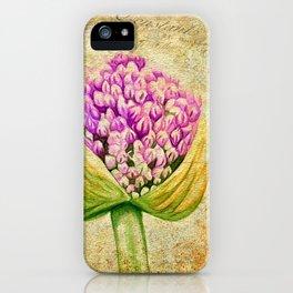 Purple Allium Bud iPhone Case