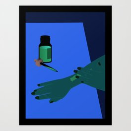 hand with wound Art Print