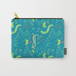 Seaweed Ocean Pattern with Crabs and Minnows Carry-All Pouch