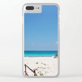 Beach Paradise Backdrop Tulum Mexico Clear iPhone Case