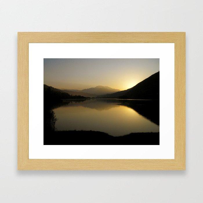 A new morning star Framed Art Print