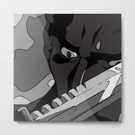 Live By The Blade Metal Print