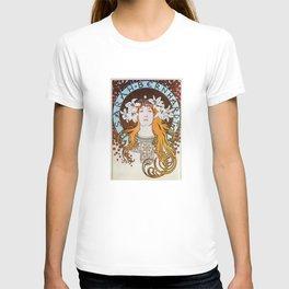 Alphonse Mucha Sarah Bernhardt Vintage Art Nouveau T-shirt