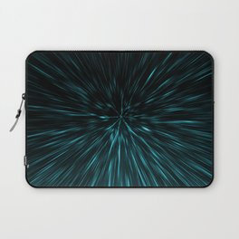 Blue and black Hypergalaxy Laptop Sleeve