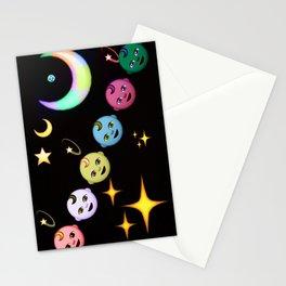 Alien Moon Rainbow Baby Stationery Cards