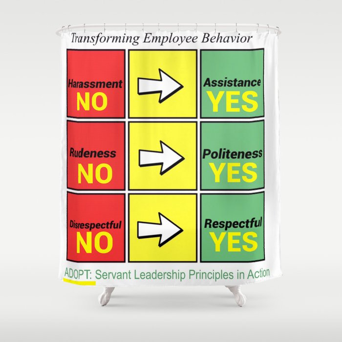 Stop Workplace Bullying Project: Employee Behavior Shower Curtain