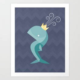 Prince of Whales Art Print
