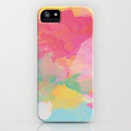 RAINBOW SPLATTER LAYERS iPhone Case