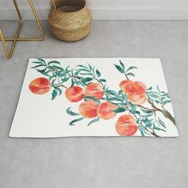 peach watercolor Rug