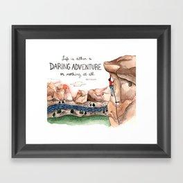 Daring Adventure Framed Art Print