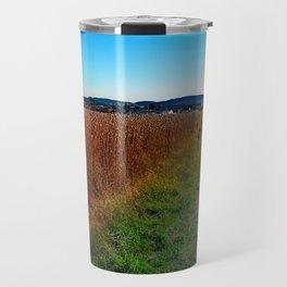 Poppy field road Travel Mug