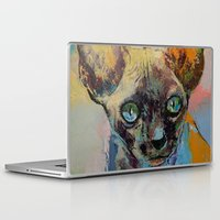 sphynx Laptop & iPad Skins featuring Sphynx by Michael Creese