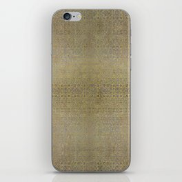 Gold and Silver Leaf Bridget Riley Inspired Pattern iPhone Skin