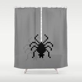 Pixel Spider Shower Curtain