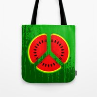 watermelon Tote Bags featuring Watermelon by mailboxdisco