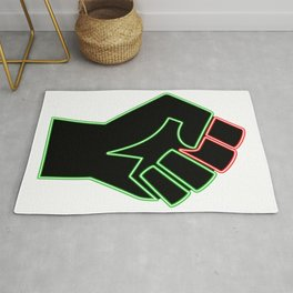 Power In Peace (Neon) Rug
