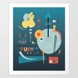 Winter Solstice - Chopstick Tango Art Print