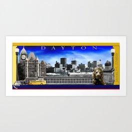 Dayton 70's View Mug Art Print