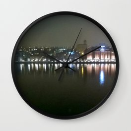 Hazy Stockholm waking up Wall Clock