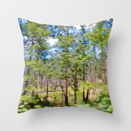 Tree Blur Throw Pillow
