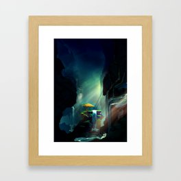 The Tree in the Cave Framed Art Print