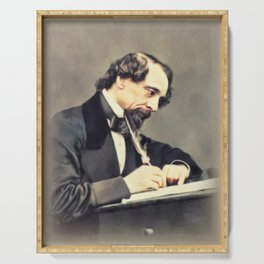 Charles Dickens, Literary Legend Serving Tray
