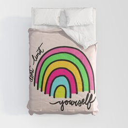Happy Rainbow Quote Comforters