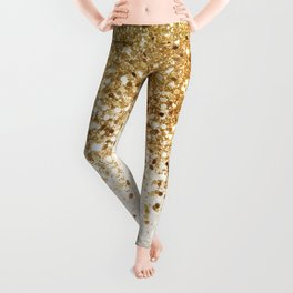 Sparkling Gold Glitter Glam #2 #shiny #decor #art #society6 Leggings