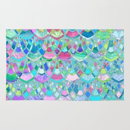 Art Deco Watercolor Patchwork Pattern 2 Rug