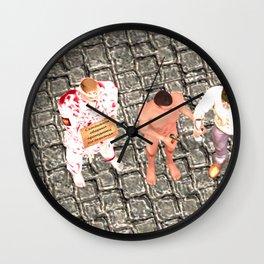 SquaRed: Three of Us Wall Clock