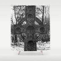 celtic Shower Curtains featuring Celtic by Kendall Brier