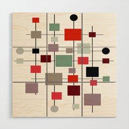 Mid-Century Modern Art 1.3.4 Wood Wall Art