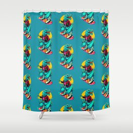 Rex to the future Shower Curtain