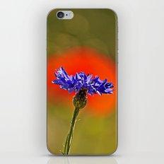 Cornflower and poppy iPhone & iPod Skin