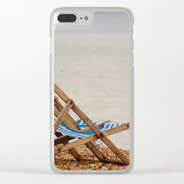 Seaside Deck Chairs Clear iPhone Case