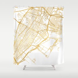 JERSEY CITY NEW JERSEY STREET MAP ART Shower Curtain