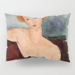 "Amedeo Modigliani ""Redheaded Girl in Evening Dress"" Pillow Sham"