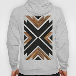 Urban Tribal Pattern 1 - Concrete and Wood Hoody