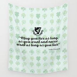 irish proverb Wall Tapestry