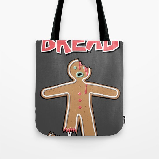 The Walking Bread Zombie Gingerbread Man  Tote Bag
