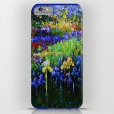 Blue Iris Fields Impressionism Painting iPhone 6s Plus Slim Case