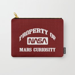 Property of NASA Mars Curiosity Rover Athletic Wear White ink Carry-All Pouch