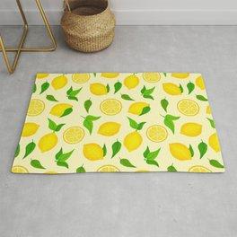 Summer Lemons Pattern - Yellow Palette Rug