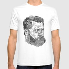 Nick Offerman Mens Fitted Tee White MEDIUM
