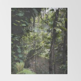 Hidden Jungle River Throw Blanket