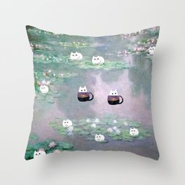 mini cats 614 Throw Pillow